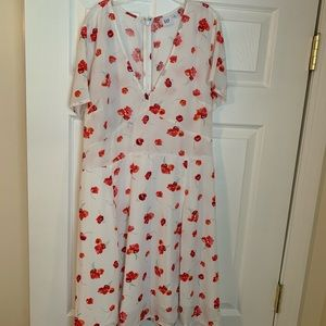 Like new pink flowers white aerie dress